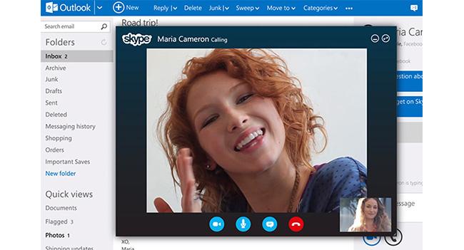 Видео звонки Skype для Outlook.com стали общедоступными и получили поддержку HD