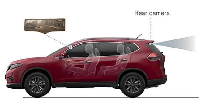 Nissan будет оснащать автомобили дисплеями заднего вида