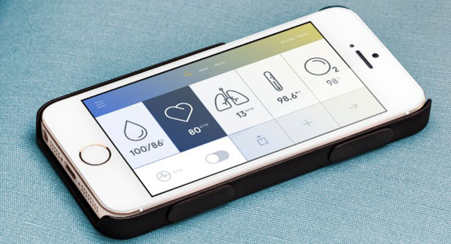 Wello - Case for iPhone, capable of tracking the user's health condition