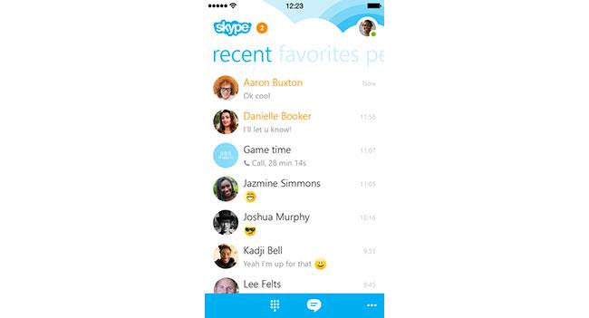 Microsoft анонсировала новую версию приложения Skype 5.0 для iPhone