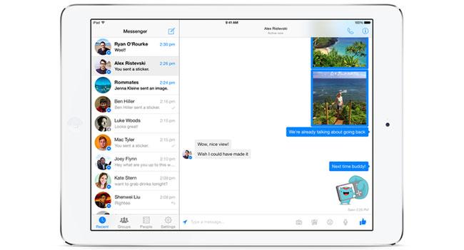 Вышло приложение Facebook Messenger для iPad