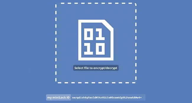 MiniLock - универсального решения для шифрования файлов