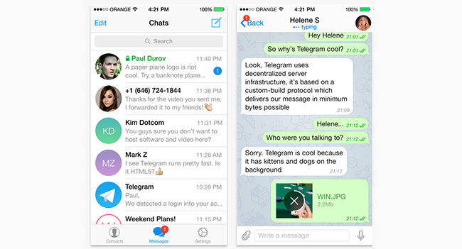 Павел Дуров запустил новый мессенджер Telegram HD
