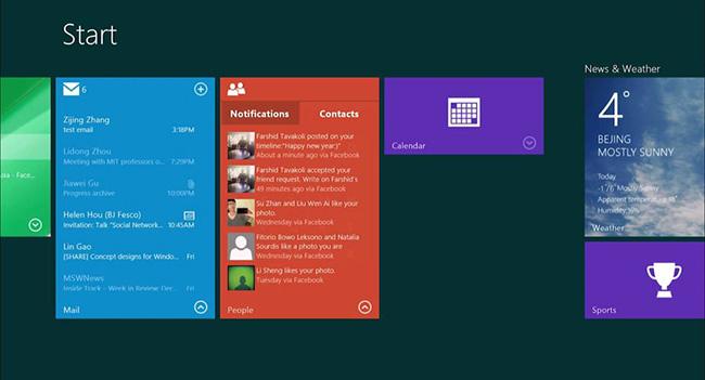 В Windows 9 появятся интерактивные живые плитки и центр уведомлений