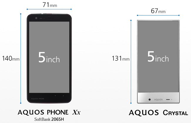 Sharp анонсировала смартфоны Aquos Crystal и Aquos Crystal X, лишенные рамок вокруг дисплея