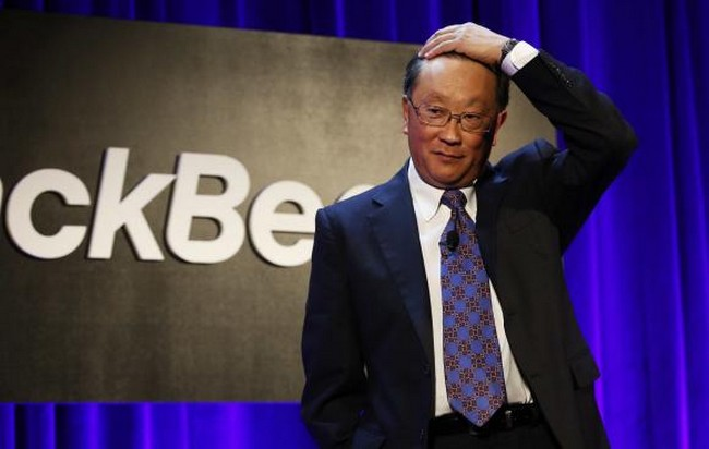 BlackBerry Ltd. Chaiman and CEO Chen speaks at the Blackebrry Security Summit in New York