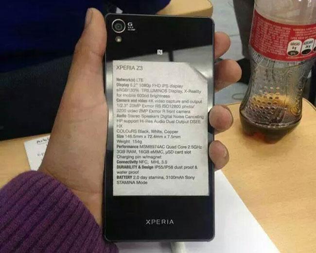 Sony представит на IFA 2014 смартфоны Xperia Z3 и Xperia Z3 Compact