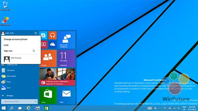 В интернете опубликованы новые видеоролики с возможностями Windows 9
