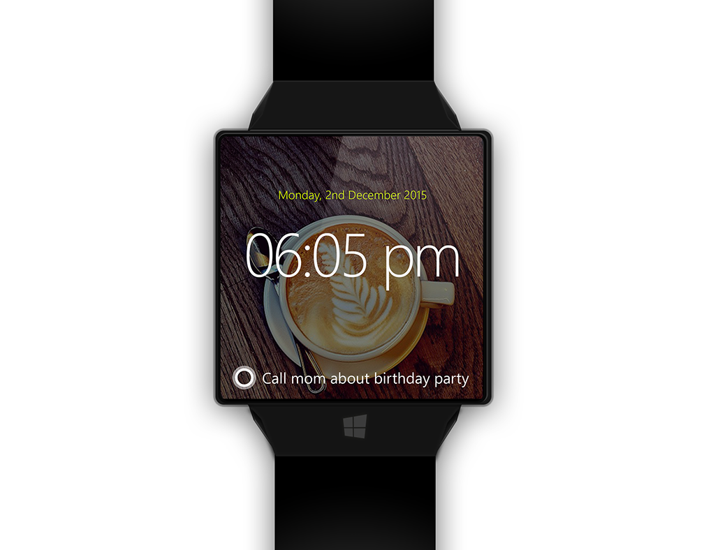 Квадратная форма и обязательная кнопка Windows - такими увидел дизайнер умные часы Microsoft