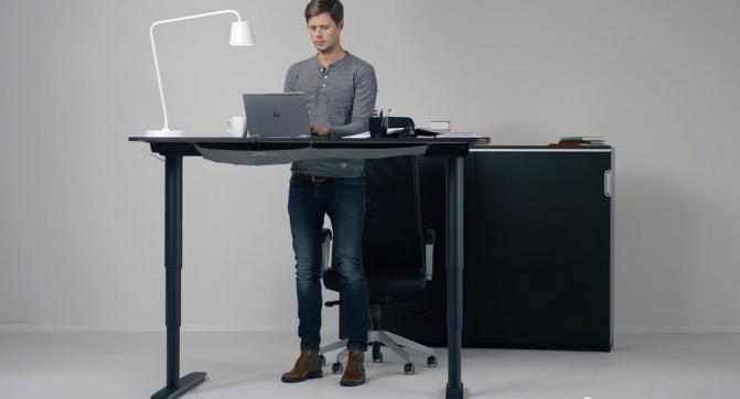 Ikea Bekant стол трансформер с регулируемой электроприводом