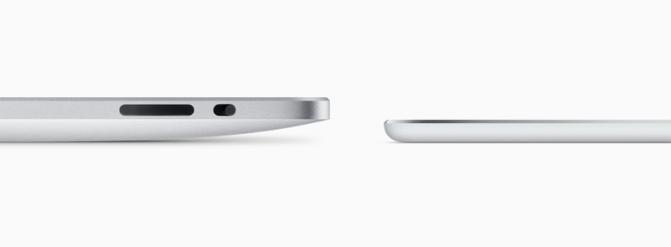 Толщина iPad Air 2 посравнению спервым iPad