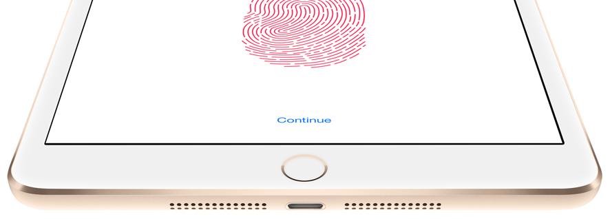 Touch Id на Apple Ipad 3 mini