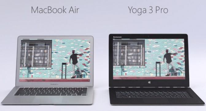 Apple MacBook Air vs. Lenovo Yoga 3 Pro