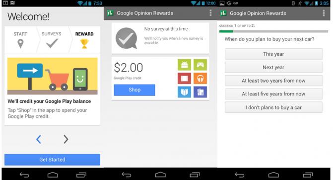 Google Opinion Rewards ITC.UA