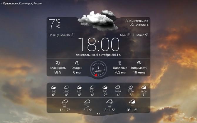 Приложение погода для андроида на русском