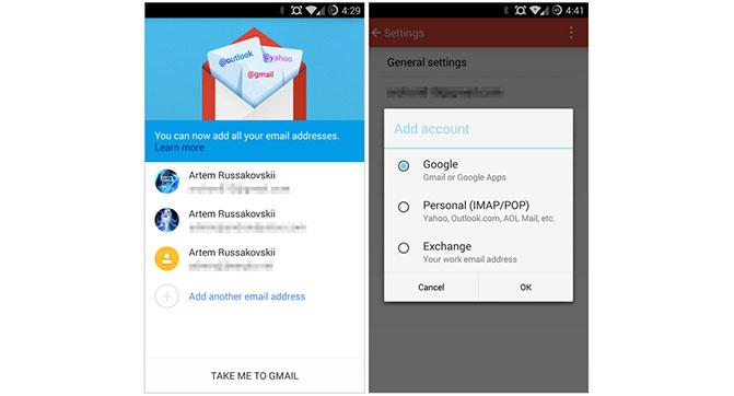 Приложение Gmail 5.0 для Android получит поддержку сторонних почтовых сервисов