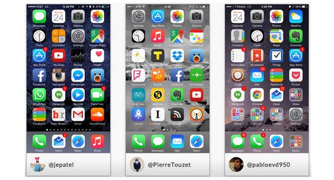 Приложение Homescreen позволяет делиться часто используемыми приложениями с друзьями