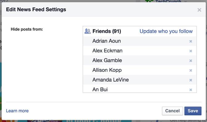 В Facebook улучшен контроль над наполнением Ленты новостей