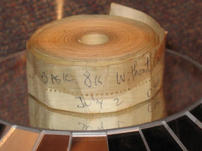 Altair BASIC Paper Tape