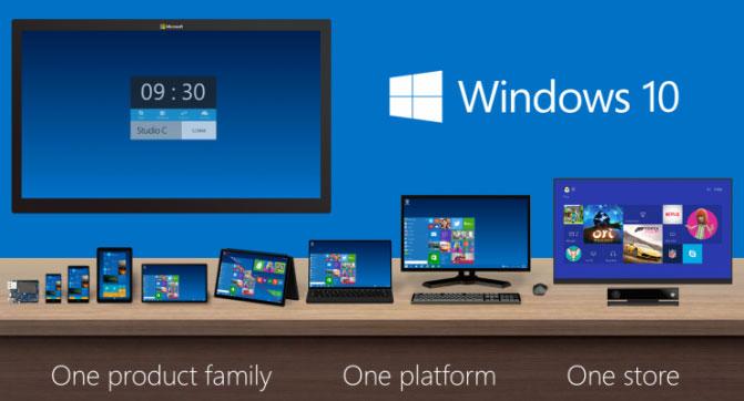 Windows 10 появится в конце лета или начале осени 2015 года