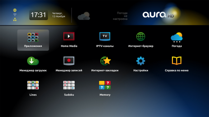 Приложения для aura hd