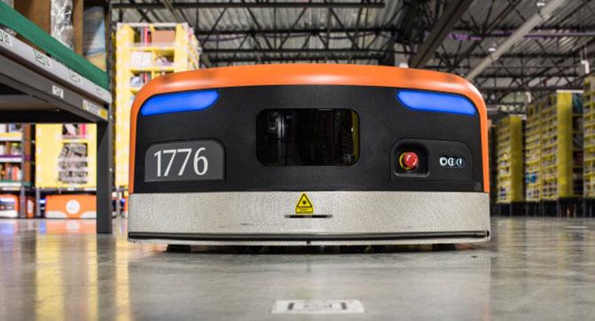 Роботы Kiva активно используются на складах Amazon для повышения эффективности