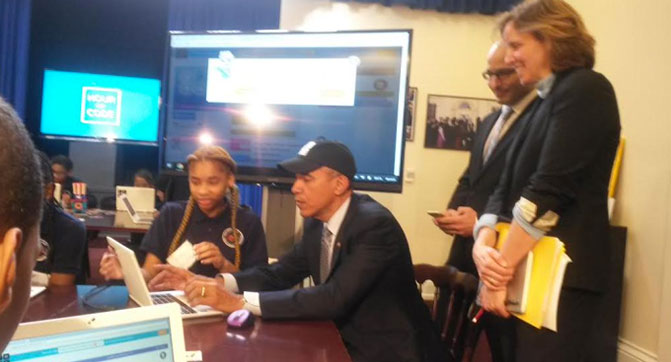 Барак Обама стал первым Президентом США, который написал код компьютерной программы