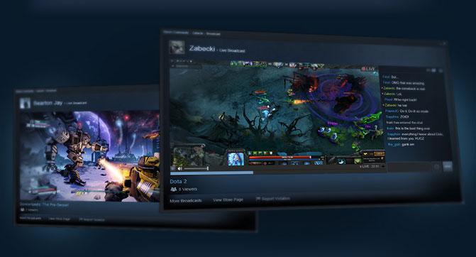 В Steam запущен сервис потоковой трансляции игрового процесса - Steam Broadcasting