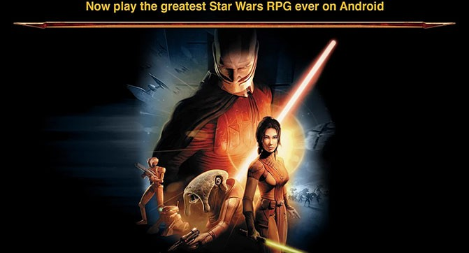 Вышла версия игры Star Wars: Knights of the Old Republic для Android