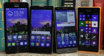 Выбираем смартфон стоимостью от 3500 до 4500 гривен: ASUS Zenfone 5 vs Huawei Honor 3C vs LG G3 s vs Nokia Lumia 730