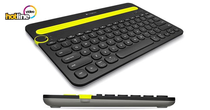 Видеообзор портативной Bluetooth-клавиатуры Logitech K480