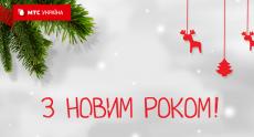 Новогодняя статистика сети «МТС Украина»: 200 ТБ данных, 770 млн звонков, 13 млн часов общения
