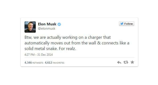 Tesla Motors работает над автоматической зарядной станцией для электромобилей