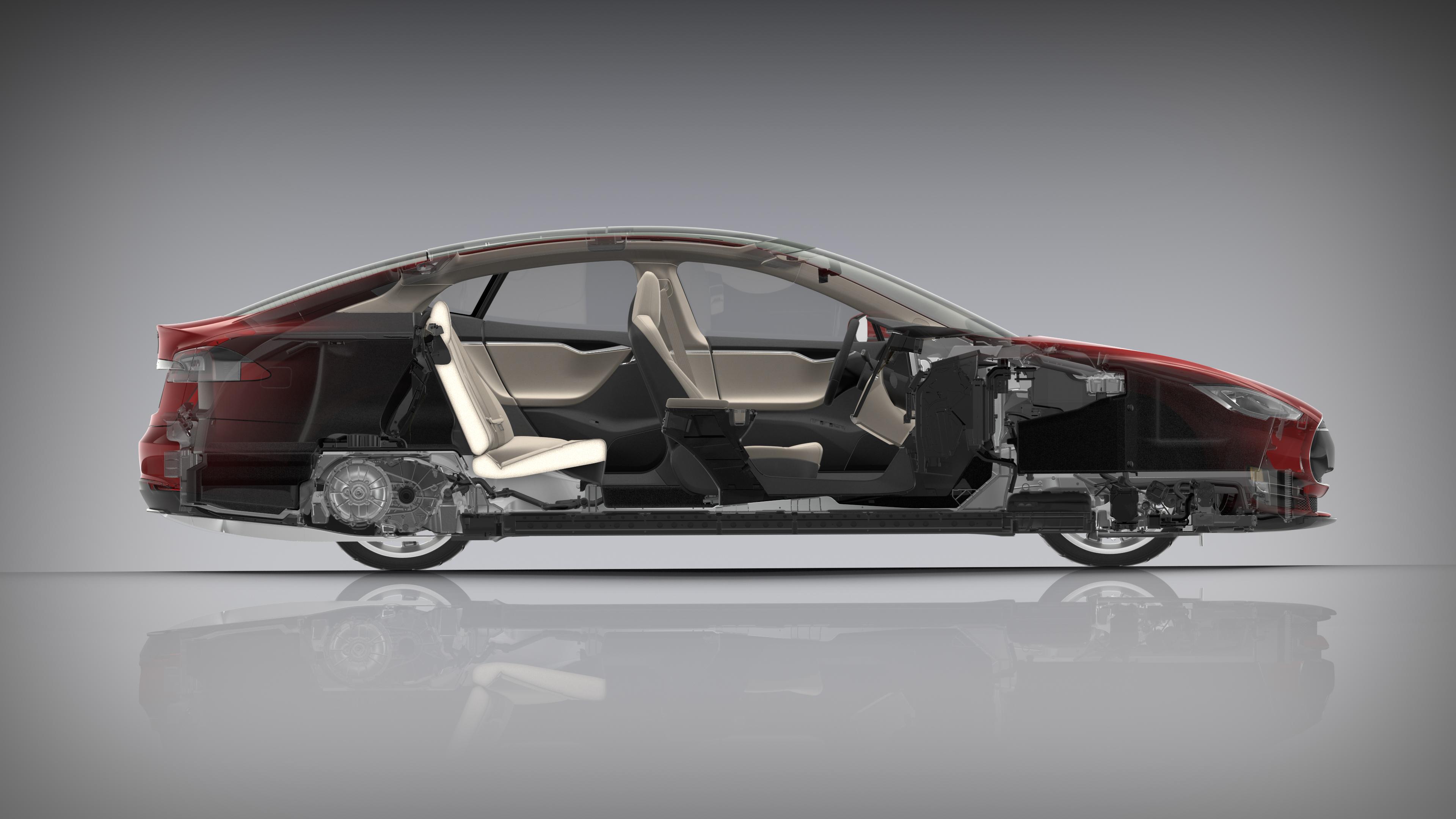 устройство автомобиля тесла модель s
