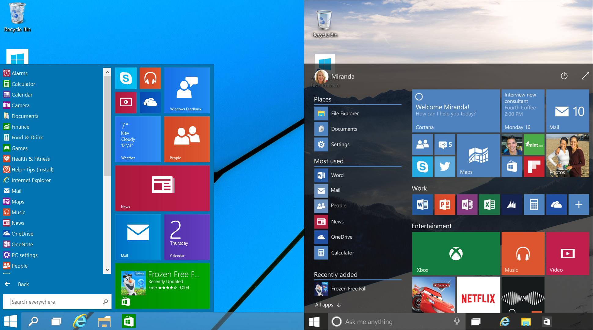 Как в windows 10 сделать пуск как в windows 8.1