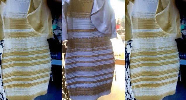 Платье в котором каждый видит свой цвет