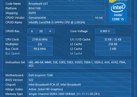 Dell Inspiron 13-7348 CPU1