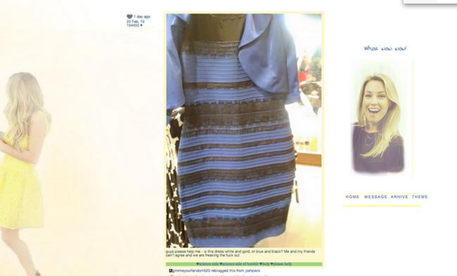 В чём прикол фото с платьем