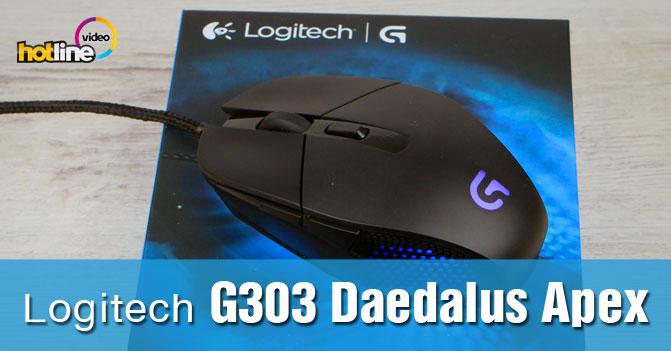 Видеообзор игровой мыши Logitech G303 Daedalus Apex