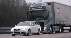 Volvo разработала тормозную систему, которая автоматически останавливает 40-тонный грузовик за считанные метры