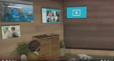 На презентации HoloLens Microsoft развесила виртуальные голографические приложения Windows 10 на стенах