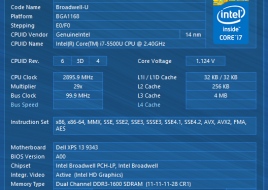 Dell XPS 13 2015 1cpuid