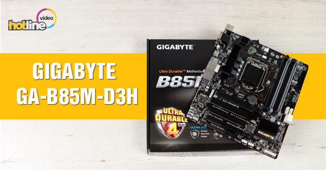 Видеообзор материнской платы GIGABYTE GA-B85M-D3H