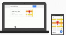 Появилась возможность отправлять маршруты из Google Maps на Android-смартфон посредством поиска Google