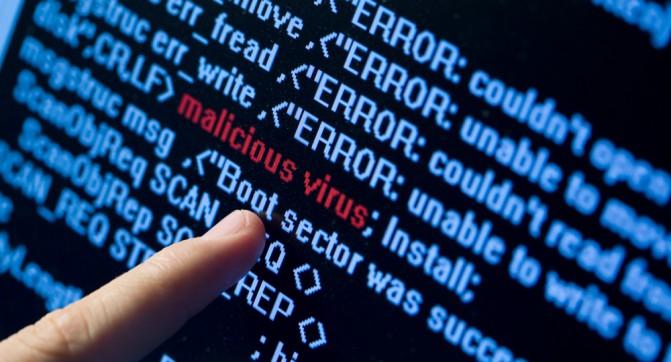Virus in program code