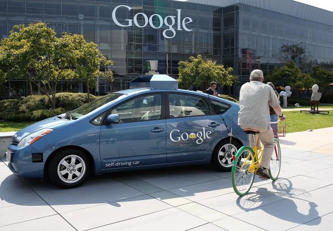 Image: Gov. Brown Signs Legislation At Google HQ That Allows Testing Of Autonomous Vehicles