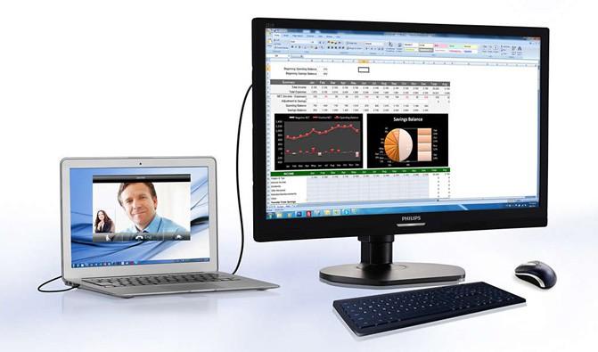В Украине стартуют продажи Philips 221S6QUMB с USB-подключением