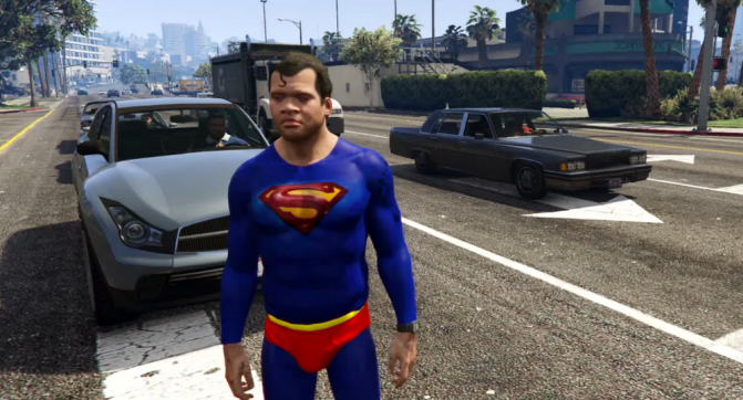 Скачать мод супермена на гта 5