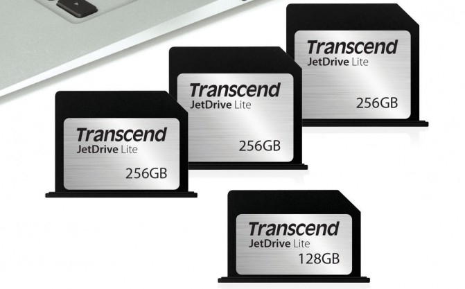 Transcend создала карты расширения JetDrive Lite специально для ноутбуков MacBook