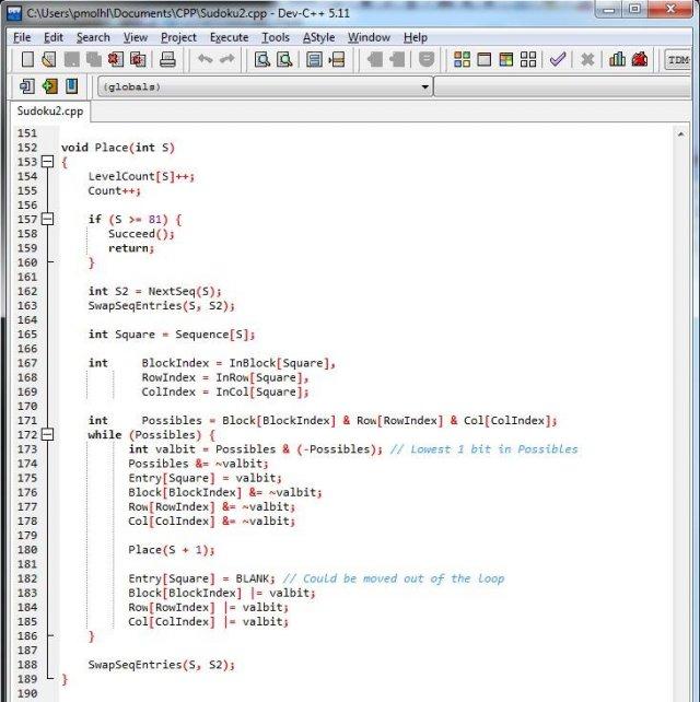 Решатель Судоку на C++ от премьер-министра Сингапура